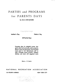 Parties and Programs for Parents Days PDF