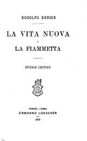 La vita nuova  of Dante Alighieri  e la Fiammetta  of G  Boccaccio  studio critico PDF