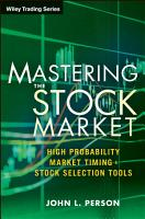 Mastering the Stock Market PDF