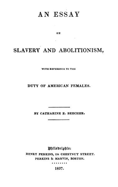 An Essay on Slavery and Abolitionism PDF