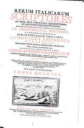 Rerum italicarum Scriptores: Volume 4