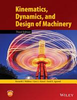 Kinematics  Dynamics  and Design of Machinery PDF