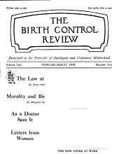 Birth Control Review: Volume 2; Volumes 4-5