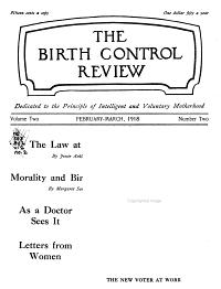 Birth Control Review PDF