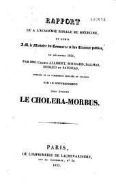Rapport lu à l'Académie royale de médecine, et remis à M. le ministre du Commerce... en décembre 1831