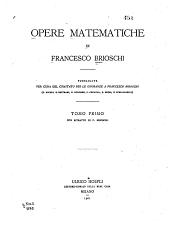 Opere matematische: Volume 1