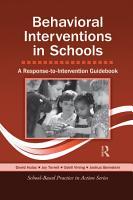 Behavioral Interventions in Schools PDF