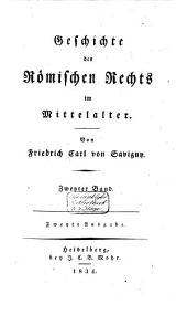 Geschichte des römischen Rechts im Mittelalter