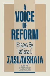 A Voice of Reform: Essays: Essays