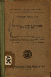 The Small-town Newspaper as a Business