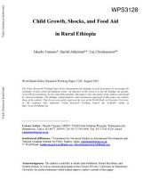 Child Growth, Shocks, and Food Aid in Rural Ethiopia