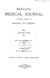 Maryland Medical Journal: Volume 29