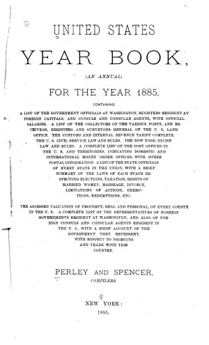 United States Year Book  for 1885