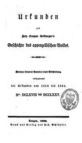 Geschichte des Appenzellischen Volkes: Band 8