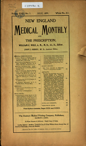 New England Medical Monthly: Volume 18, Issue 7