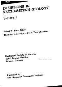 Excursions in Southeastern Geology PDF