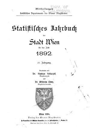 Statistisches Jahrbuch der Stadt Wien PDF