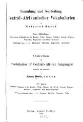 Collection of vocabularies of Central-African languages: Band 3
