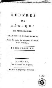 Oeuvres de Séneque le philosophe: Volume1