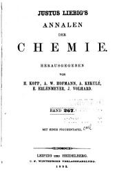 Justus Liebigs Annalen der Chemie: Bände 167-168;Bände 267-268