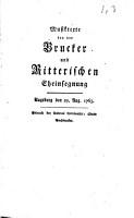 Musiktexte bey der Brucker und Ritterischen Eheinsegnung PDF