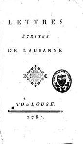 Lettres écrites de Lausanne