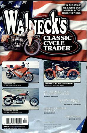 WALNECK S CLASSIC CYCLE TRADER  MARCH 2002 PDF