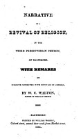 Narrative of a Revival of Religion  in the Third Presbyterian Church in Baltimore PDF
