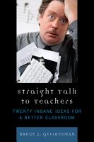 Straight Talk to Teachers PDF
