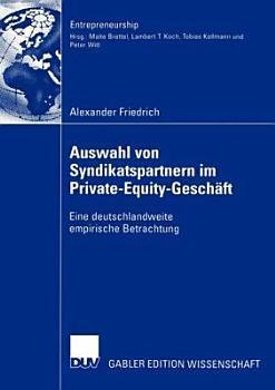 Auswahl Von Syndikatspartnern Im Private Equity Gesch  ft PDF