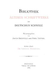 Die Schweizer Minnesänger