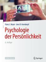 Psychologie der Pers  nlichkeit PDF