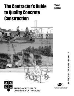 The Contractor s Guide to Quality Concrete Construction PDF