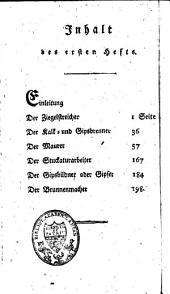 Technologisches compendium: erster Band, zum Mineralreich gehörige Professionen