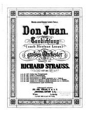 Don Juan: Tondichtung (nach Nicolaus Lenau) für grosses Orchester : op. 20