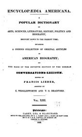 Encyclopædia americana: Volume 13