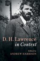 D  H  Lawrence In Context PDF