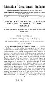 Course of Study and Syllabus for Guidance of Nurse Training Schools in Preparing Their Students for Examination Before the State Board ...
