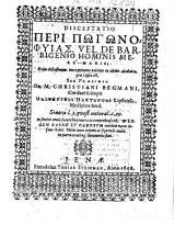 Disceptatio Peri Pōgōnophyias, Vel De Barbigenio Hominis Mere -- Maris