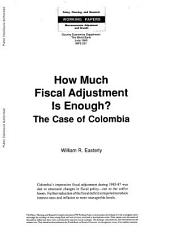 How much fiscal adjustment is enough? : the case of Colombia