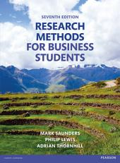 Research Methods for Business Students: Edition 7