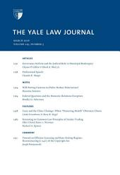 Yale Law Journal: Volume 125, Number 5 - March 2016