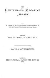 The Gentleman's Magazine Library: Being a Classified Collection of the Chief Contents of the Gentleman's Magazine from 1731 to 1868, Volume 3