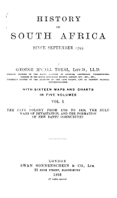 History of South Africa Since September, 1795: Volume 1