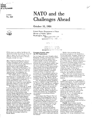 NATO and the Challenges Ahead PDF