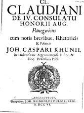 De quarto consulatu Honorii Aug. Panegyricus