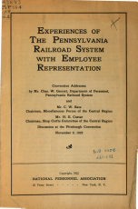 Experiences of the Pennsylvania Railroad System with Employee Representation PDF