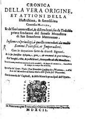 Cronica della vera origine, et attioni della illustrissima, et famosissima Contessa Matilda