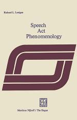 Speech Act Phenomenology