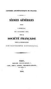 Congrès archéologique de France: Volumes16à17